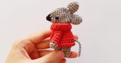 آموزش کامل بافت عروسک موش با قلاب + ویدئو به زبان چینی