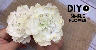 نحوه درست کردن گل ساده فومی بدون الگو/ ویدئو بی کلام