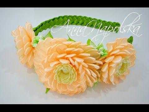 آموزش ساخت تل سر با گل های کوکب کانزاشی
