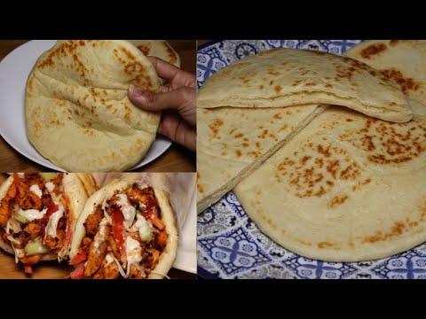 طرز تهیه نان پیتا خانگی/ نان برای انواع پیتزا و ساندویج