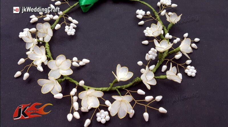 آموزش ساخت تاج گل عروس
