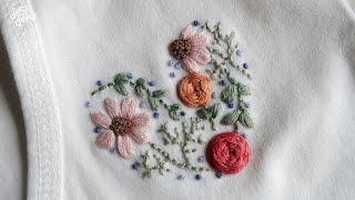آموزش گلدوزی با دست/ قلب گلدار