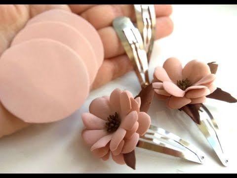نحوه درست کردن سنجاق سر با گل فومی ساده بدون الگو