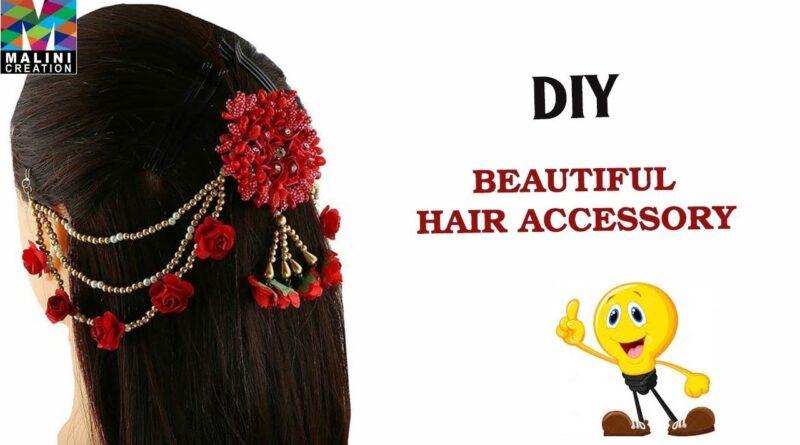 آموزش ساخت گیره مو به سبک هندی