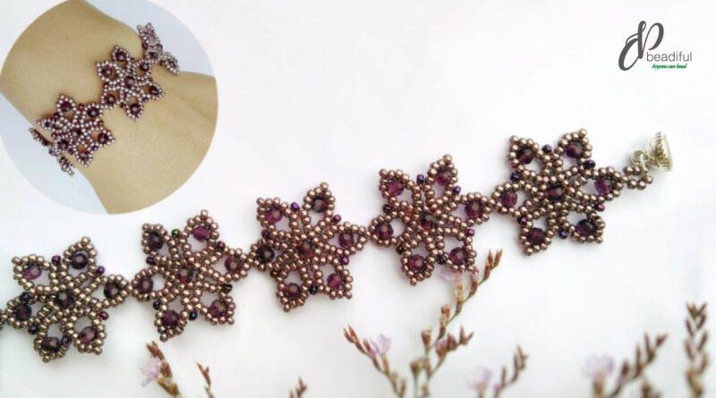 آموزش ساخت دستبند گلدار منجوقی