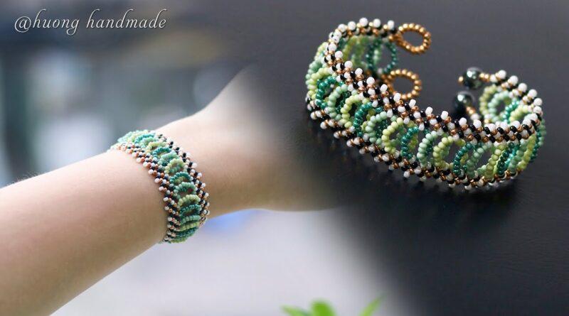 آموزش ساخت دستبند پهن منجوقی
