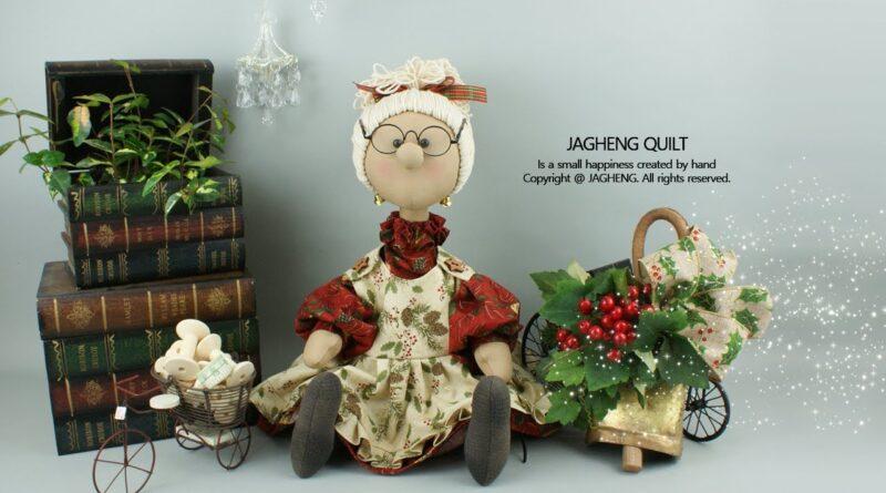آموزش کامل برش و دوخت عروسک با نمک همسر بابانوئل