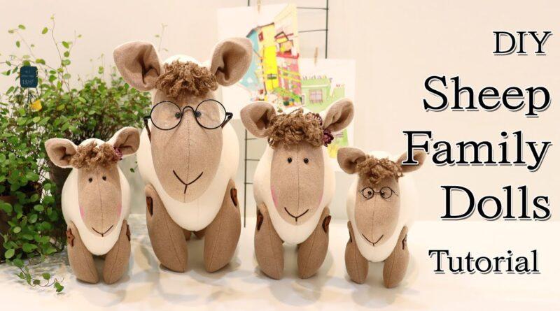 آموزش کامل برش و دوخت عروسک های گوسفند