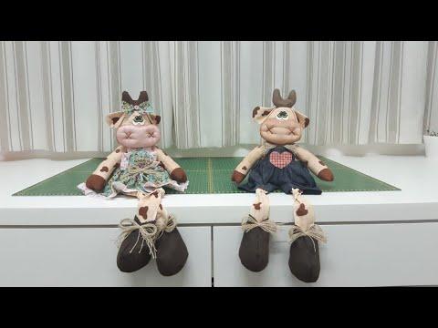 آموزش برش و دوخت عروسک گاو پارچه ای با الگو