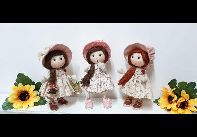 آموزش برش و دوخت عروسک پارچه ای دختر روستایی با الگو