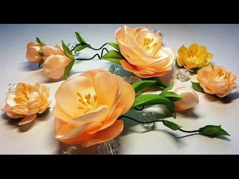 آموزش ساخت گل روبانی همراه با ویدئو بی کلام