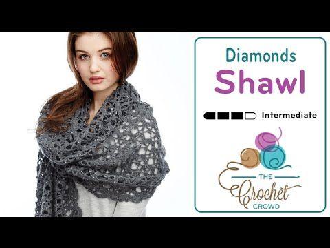 ایده هایی برای بافتن/ شال طرح درخشش چو الماس