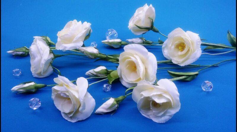 آموزش ساخت گل زیبای لیسیانتوس با روبان ساتنی