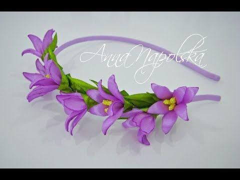 آموزش ساخت تل سر با گل های زیبای کانزاشی