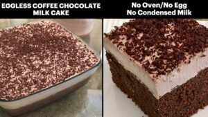 بهترین روش پخت کیک شیری شکلاتی، بدون تخم مرغ و فر