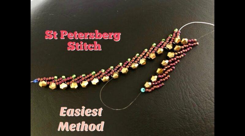 آموزش مرواریدبافی/ بافت ساده مناسب برای دستبند و گردنبند