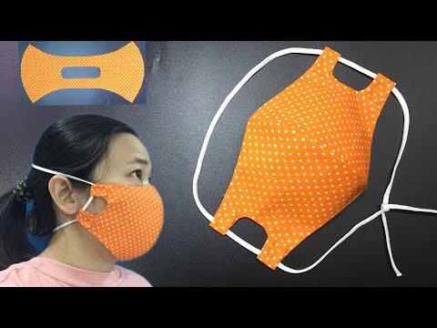 برش و دوخت ماسک پارچه ای با کش قابل تنظیم