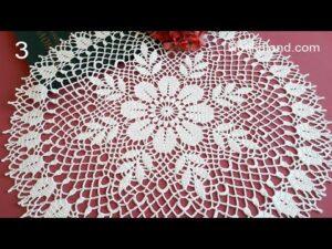 آموزش کامل بافت رومیزی قلاب بافی طرح گل