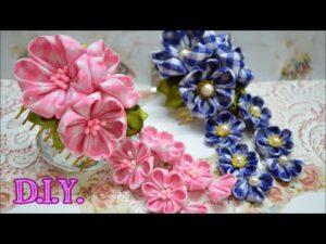 آموزش ساخت ریسه مو با گل های زیبای پارچه ای