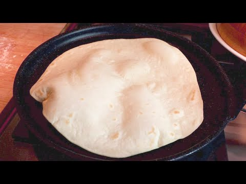 نان تورتیلا فقط با آرد و آب و روغن