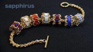 آموزش بافت یک دستبند فوق العاده شیک با طرح استوانه های متصل