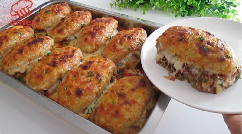 کوفته های خوشمزه با گوشت و سیب زمینی و پنیر