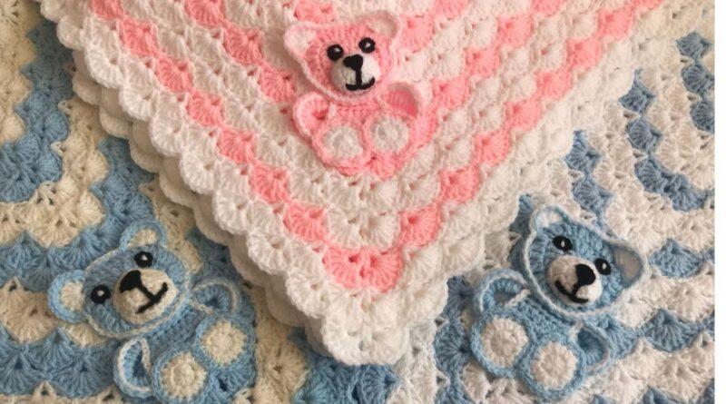 آموزش بافت موتیف خرس برای پتو نوزادی