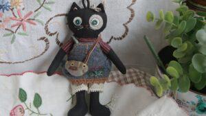 آموزش کامل برش و دوخت عروسک تکه دوزی گربه سیاه