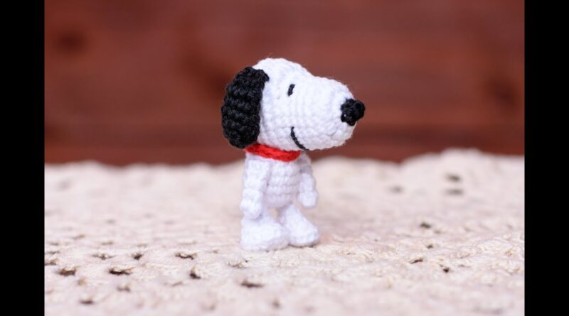 آموزش بافت عروسک سگ کارتونی اسنوپی