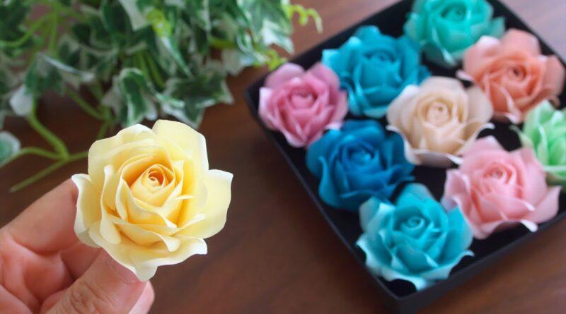 آموزش کامل ساخت گل های رز کاغذی