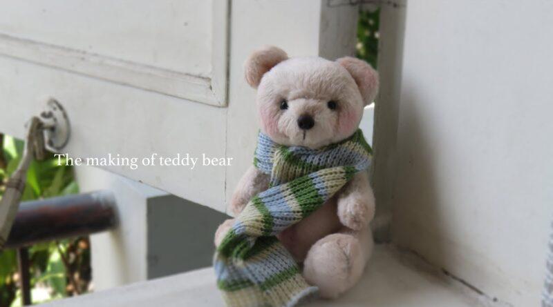 آموزش ساخت عروسک خرس پولیشی با الگو