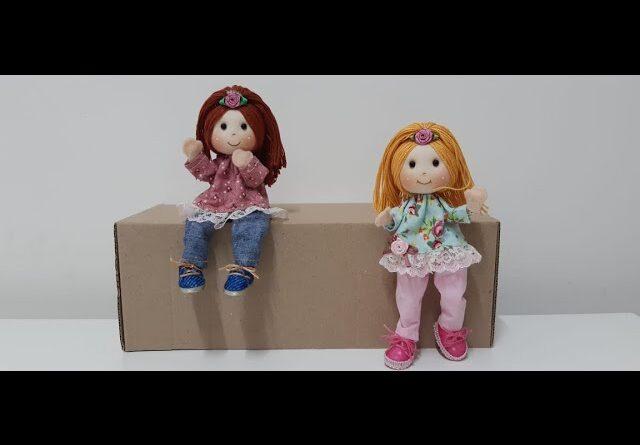 آموزش برش و دوخت عروسک پارچه ای با الگو