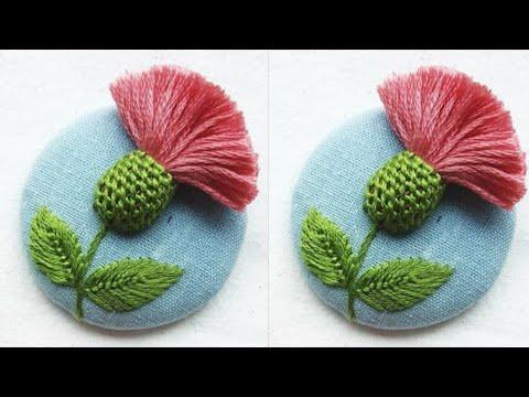 آموزش گل دوزی/ طرح گل برای پیراهن و کت و لباس