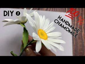 آموزش ساخت گل بابونه با فوم