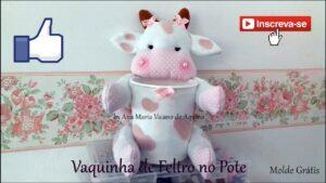 جامدادی لیوانی با ظرف ماست و عروسک گاو نمدی