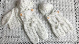 آموزش بافت لباس یکسره نوزادی