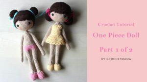 آموزش کامل بافت عروسک یکپارچه/ چپ دست