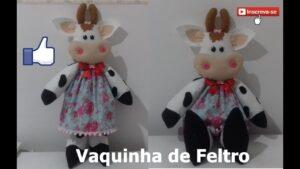 آموزش ساخت عروسک گاو پارچه ای همراه با الگوی برش