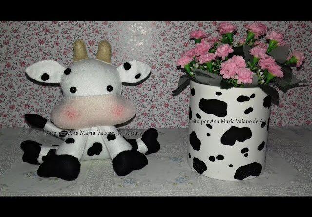 ست گلدان و عروسک گاو سال نو با نمد