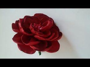 آموزش گام به گام ساخت گل رز با روبان ساتنی همراه با ویدئو بی کلام