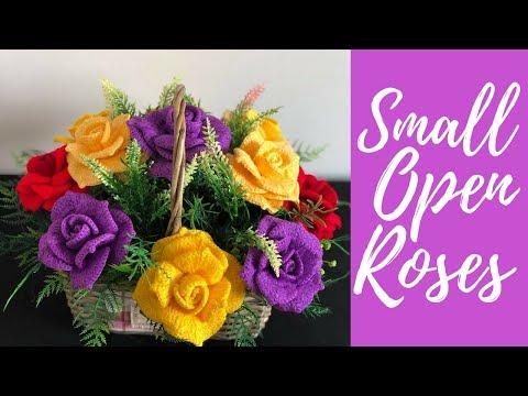 آموزش تصویری بافت گل رز سه بعدی با قلاب