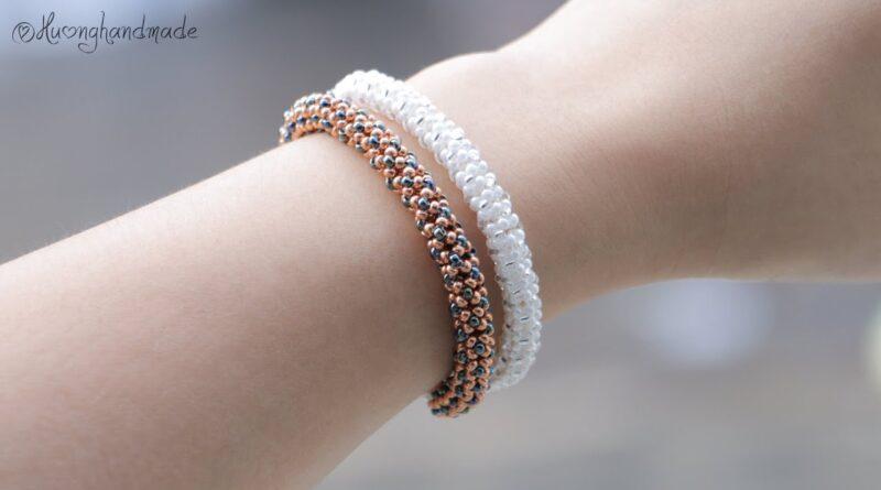 ساخت دستبند منجوقی لوله ای