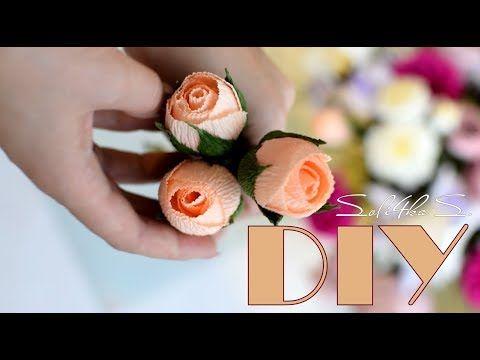 آموزش کامل ساخت غنچه بسته گل رز طبیعی با کاغذ کشی