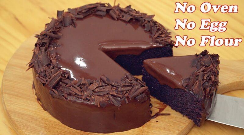 طرز تهیه کیک شکلاتی بدون فر تنها با 3 ماده اولیه