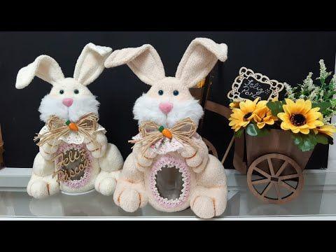 آموزش عروسک سازی با الگو/ عروسک خرگوش پولیشی/ جای قند و چای عروسکی