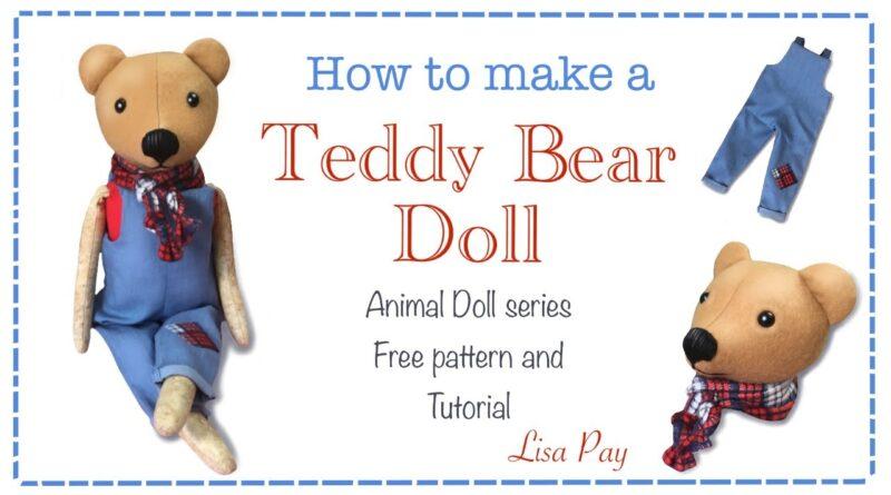 آموزش کامل ساخت عروسک خرس همراه با پی دی اف الگو