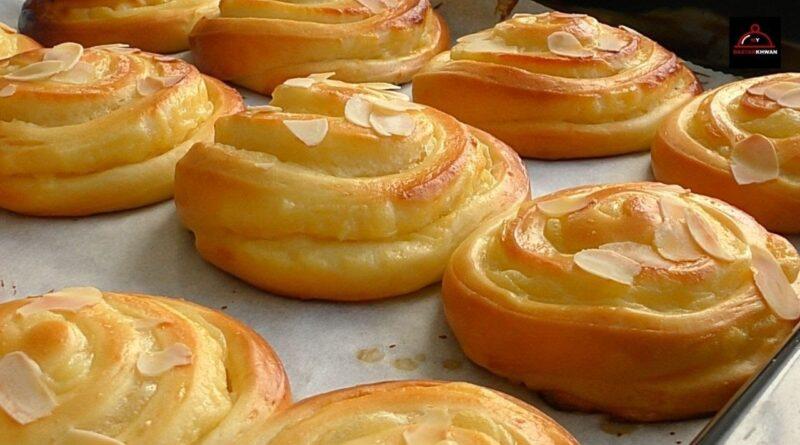 طرز تهیه نان خامه ای های رولتی/ نان کاسترد/ نرم و خوشمزه/ آموزش آشپزی ملل با ترجمه