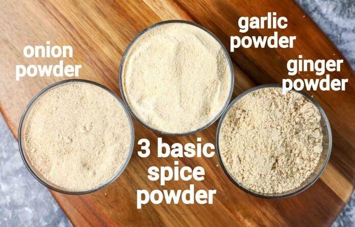 روش تهیه سه ادویه پایه آشپزی در خانه: پودر سیر، پیاز و زنجبیل/ آموزش بهترین های آشپزی ملل