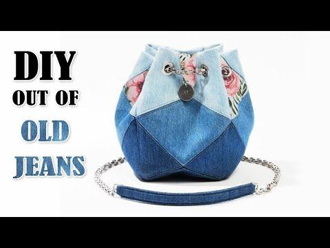 آموزش برش و دوخت کیف از پارچه جین کهنه مدل 2020 همراه با ویدئو بی کلام