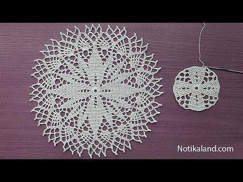 آموزش بافت رومیزی کلاسیک ابریشمی با قلاب همراه با مجموعه ویدئو کامل بی کلام